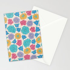 RocoFloral (peach) Stationery Cards