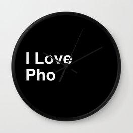 I Love Pho Wall Clock