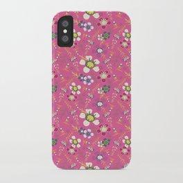 Tiara Flower Pink iPhone Case