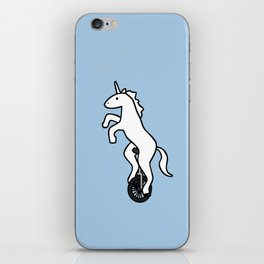 Unicorn on a Unicycle iPhone Skin
