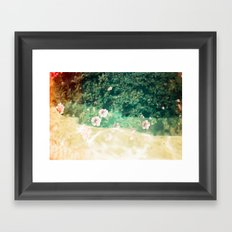 A place of flowers Framed Art Print