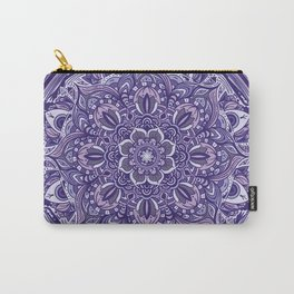 Great Purple Mandala Carry-All Pouch