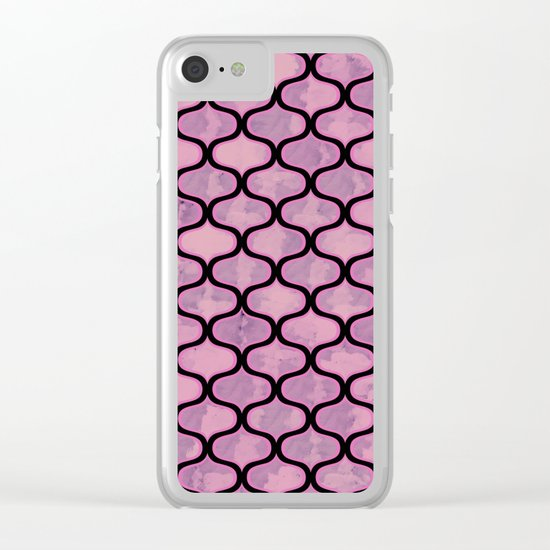 Lovely Pattern VI Clear iPhone Case