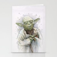 yoda Stationery Cards featuring Yoda  by Olechka