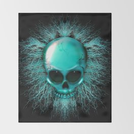 Ghost Skull Throw Blanket