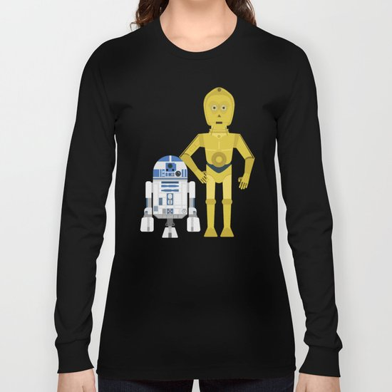 C3P0 and R2D2 vector Long Sleeve T-shirt