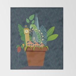 London Garden Throw Blanket