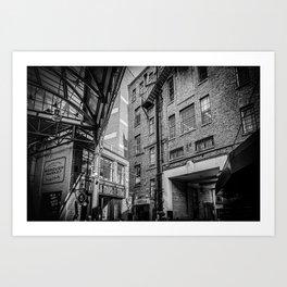 The industrial vintage Borough Market   London   Black & White Photo   Travel & Street Photography  Art Print