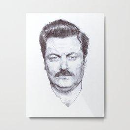 Ron Fucking Swanson Metal Print