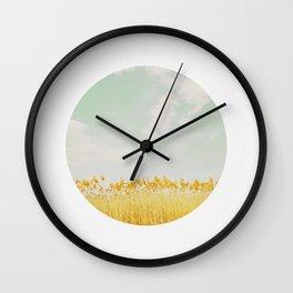 CIRCULAR SERIES Landscape Reeds Wall Clock