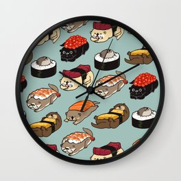 Sushi Otter Wall Clock