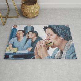 Jughead Jones Eats a Burger - Riverdale Rug