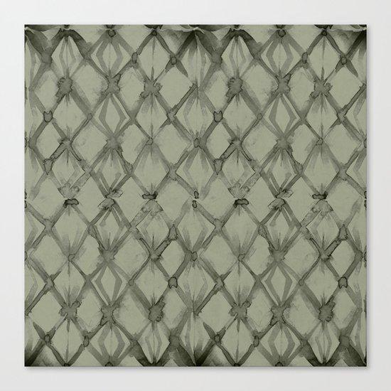Braided Diamond Simply Green Tea Canvas Print