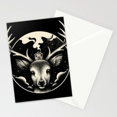Deer Home Stationery Cards