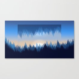 Winter Pines Reflected Canvas Print