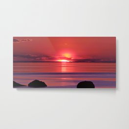 Sunset Ripples Metal Print