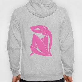 ABSTRACT MATISSE NUDE WOMAN, BUBBLEGUM PINK Hoody