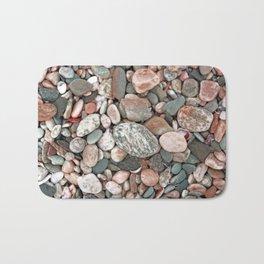 Gray, Pink and Salmon Beach Stones Bath Mat