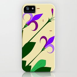 Lavenders and Violet Colored Lilies iPhone Case