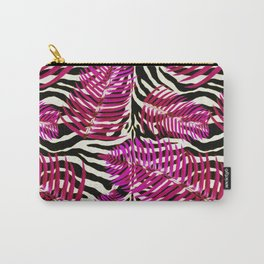 Zebra in cherry Carry-All Pouch