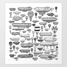 Flying Machines Art Print