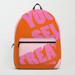 Treat Yourself   Peach Backpack
