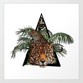 Jungle Animal Leopard ArtWork Art Print