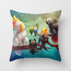 Griffins of a Feather Throw Pillow