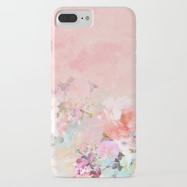 Modern blush watercolor ombre floral watercolor pattern iPhone Case