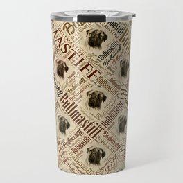 Bullmastiff Word Art Travel Mug