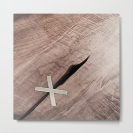 WOOD CROSS Metal Print