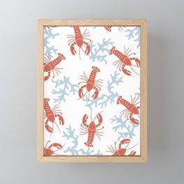 Lobster Toss Framed Mini Art Print