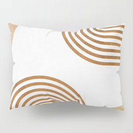Jazzy Afternoon - Minimal Geometric Abstract - White 2 Pillow Sham