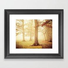 I Heard Whispering in the Woods Framed Art Print