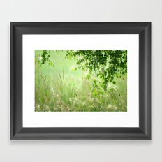 Birch leaves Framed Art Print