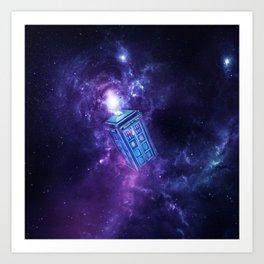 Tardis Nebula Art Print