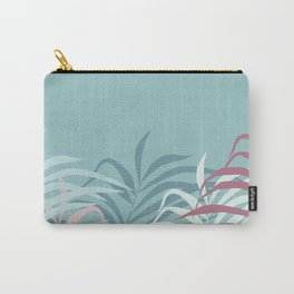 Botanical illustration in a light green background Carry-All Pouch
