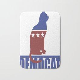 Democat democrat cat Bath Mat