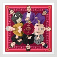 budapest hotel Art Prints featuring The Grand Budapest Hotel by Kitty Rouge