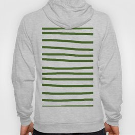 Simply Drawn Stripes in Jungle Green Hoody