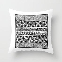 Graceland Black & White Throw Pillow