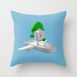 Tree House Boat Throw Pillow