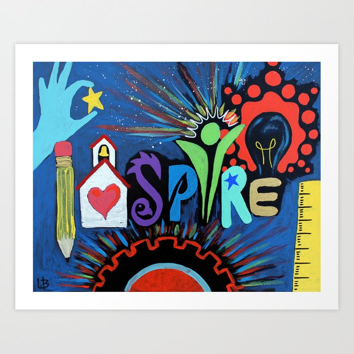 INSPIRE - Educational school teacher painting Kunstdrucke