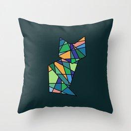 Kaleidoscope Kitty Throw Pillow