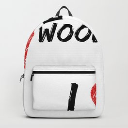 I Love Woodball Backpack