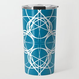 Blue White Swirl Travel Mug