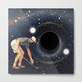 Black Hole in One Metal Print