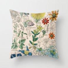Floral Print Throw Pillow