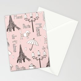 Paris Girl - Pink Stationery Cards