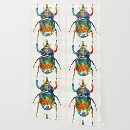 Colorful Beetle Art - Scarab Beauty - By Sharon Cummings Wallpaper